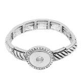 Boutons 1 encliqueter le bracelet de ruban avec la forme de strass ajustement 20MM enfonce des bijoux KC0851