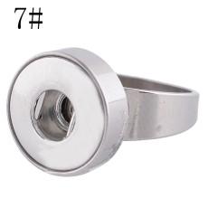 18MM 7 # s'enclenche en acier inoxydable Bague adaptée Doigts épais 17mm