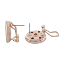 Snap Rose Gold Ohrring fit18 & 20MM Snaps Style Schmuck KC1056