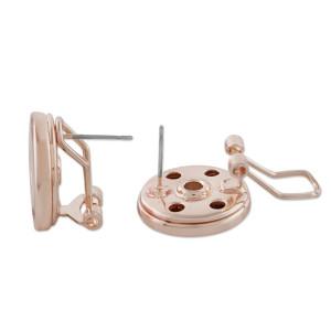complemento arete de oro rosa fit18 y 20MM broches estilo joyería KC1056