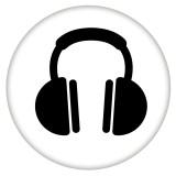 20MM Окрашенная музыка эмаль металлическая C5756 с принтом защелок ювелирных изделий