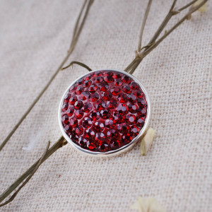 18mm Sugar snaps Alloy with red rhinestones KB2313 snaps jewelry