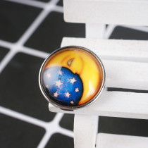 20MM snap glass Moon KB2748 Snaps interchangeables bijoux
