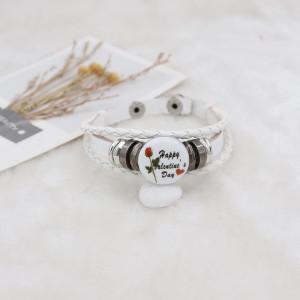 20MM Valentine's day Painted enamel metal C5629 print snaps jewelry