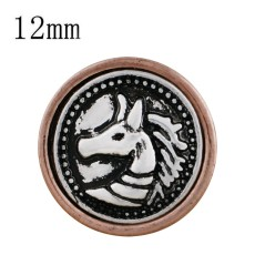12MM horse snap Ancient gold plated KS6289-S snaps jewelry