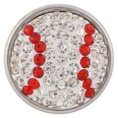 18mm Sugar Snaps Alliage avec strass blanc KB2421 Snaps bijoux