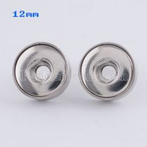 Fit 12mm Snaps Pendientes de acero inoxidable en forma de broches KS0942-S