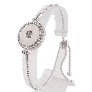 1 buttons snaps Adjustable metal Bracelets KC0706 fit snaps chunks