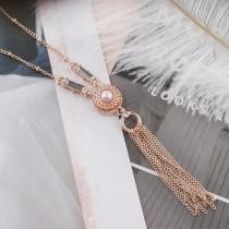 12MM rund Rose Gold Plated mit weißen Perlen KS6277-S schnappt Schmuck