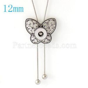Colgante de collar con cadena 80CM en forma de broches 12MM estilo pequeños trozos de joyería