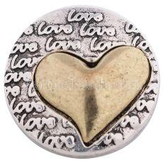 20MM KC6230 snap love bijoux en plaqué or