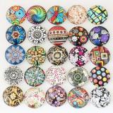 10pcs trozos de vidrio impreso trozos MIX 50 tipos artes patrón de diseño