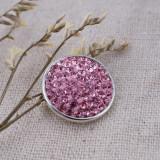 18mm Sugar Snaps Alloy mit pinkfarbenen Strasssteinen KB2311 Snaps Jewelry
