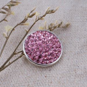 18mm Sugar snaps Alloy with pink rhinestones KB2311 snaps jewelry