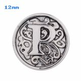 12mm P Antique snaps Silver Plated KS5018-S snap jewelry
