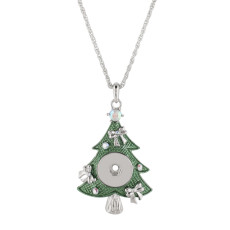 Pendant of Christmas Necklace with 50CM chain fit 18mm snap chunks