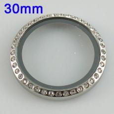 Stainless Steel Screw Capfor the Card holder dia 30mm Locket FL3551