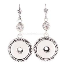 snaps metal earring with Rhinestone KC0924 fit 18mm chunks snaps jewelry