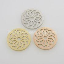 Les breloques en acier inoxydable 25MM conviennent aux bijoux taille fleurissent