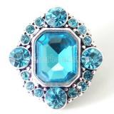 20MM Broche irregular plateado con diamantes de imitación azul claro KB7106 broches de joyería