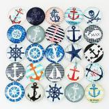 Trozos de broches de vidrio impresos 10 - Sailor MIX 25 tipos patrón de diseño artístico