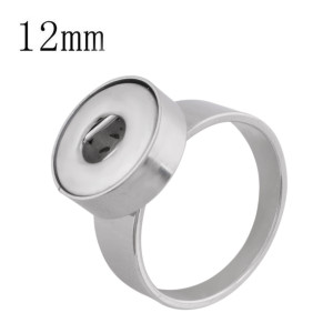 #8Fit 12mm Snaps Stainless steel Rings fit snaps chunks KS0943-S