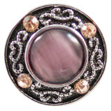 20MM Круглая защелка Античное серебро с покрытием со стразами и фиолетовым опалом KB7974 оснастки ювелирные изделия