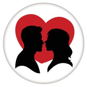 20MM Valentinstag Lackiertes Email Metall C5620 Druck schnappt Schmuck