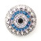 20MM Eye snap silver plated DS5039 with clear and blue Rhinestone interchangeable snaps jewelry