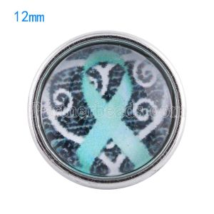 12MM snaps glass of ribbon KT0063 interchangable snaps jewelry