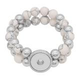 Boutons 1 Avec bouton-pression ajustable Bracelet en pierre naturelle ajustement s'emboite bijoux KC0856