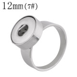 7# Fit 12mm Snaps Stainless steel Rings fit snaps chunks KS1235-S