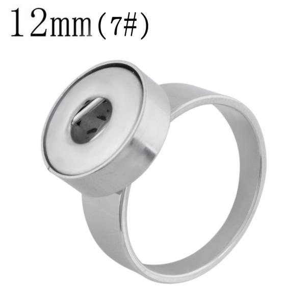 7 # Fit 12mm Snaps Anneaux en acier inoxydable fit snaps chunks KS1235-S