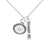 Pendentif de collier avec chaîne 60CM KC1085 fit 20MM chunks snaps jewelry