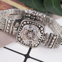 20MM Christmas Snow snap Antique Silver Plated with  rhinestone KB8061 snaps jewelry