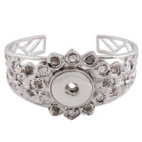 Bracelet en métal de haute qualité avec strass 6.5 * 5.5CM fit 18 & 20MM s'enclenche des morceaux 1 boutons s'enclenche Bijoux