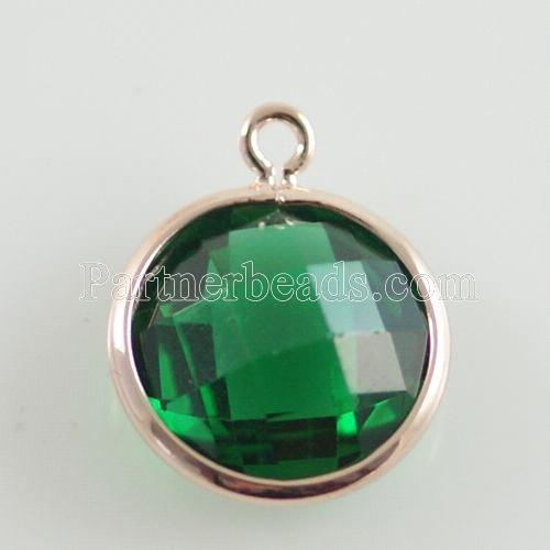 Glass crystal dangle Charms dia 12mm color009
