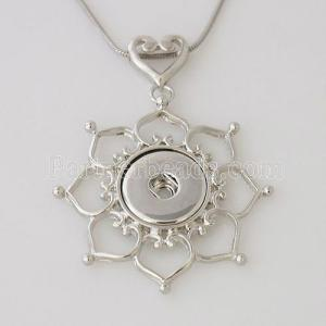 Pendant of necklace without chain fit snaps style chunks jewelry