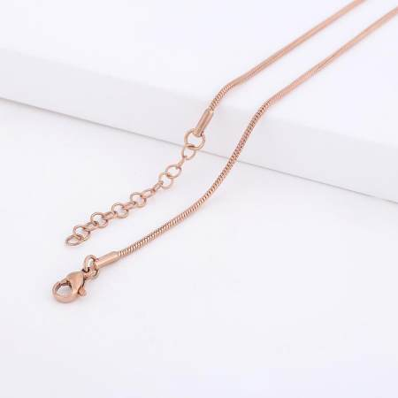 46CM high quality Stainless steel Snake Rose Gold Chain necklace
