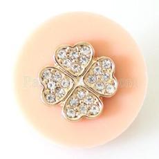 Snap fleur 22MM avec bijoux en résine rose KB6809 snaps