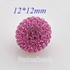 12mm Rose STELLUX Austrian crystal ball beads