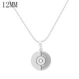 Un pendentif en argent avec une chaîne 60CM et une chaîne KS1275-S compatible avec des morceaux 12MM et des bijoux