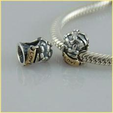 partner sterling silver beads with gold plated mother
