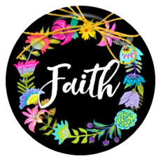 20MM faith Painted enamel metal C5535 print snaps jewelry