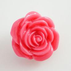 18MM Flower snap Alliage rose-rouge résine KB2270 interchangeable snaps bijoux