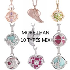 Mix 10pcs/set Angel Caller Ring bell ball locket Necklace with ball random color,  random 30 types