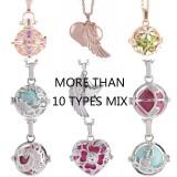 Mix 10pcs/set Angel Caller Ring bell ball locket Necklace with ball random color,  random 30 types