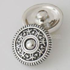 20MM Round snap Antique Silver Plated KB5404 snaps jewelry