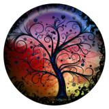 20MM árbol Esmalte pintado metal C5208 estampado broches joyería
