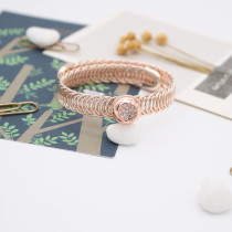 1 buttons snaps rose gold copper Bracelets KS1232-S fit 12MM snaps chunks